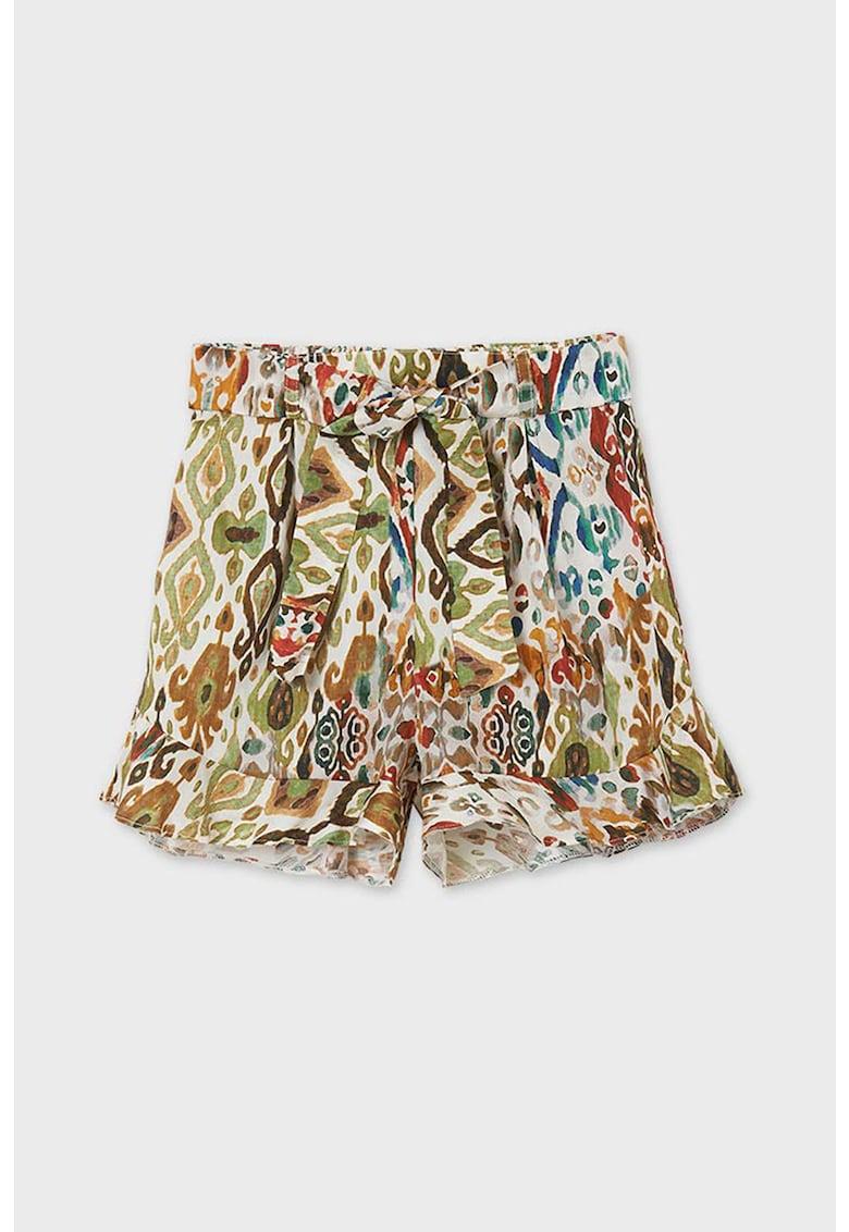 Pantaloni scurti evazati cu imprimeu poza fashiondays