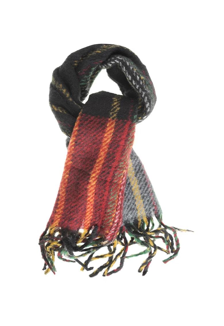 Fular din amestec de lana - cu franjuri imagine