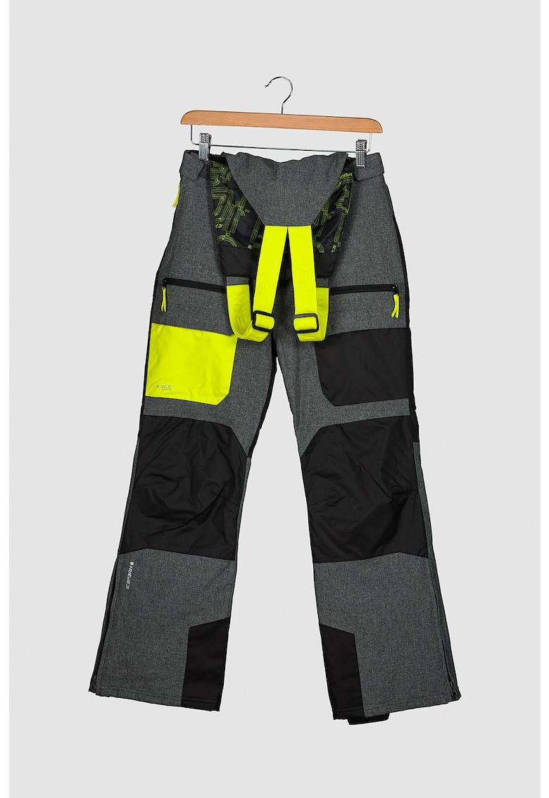 Pantaloni cu model colorblock pentru schi Lawndale Jr