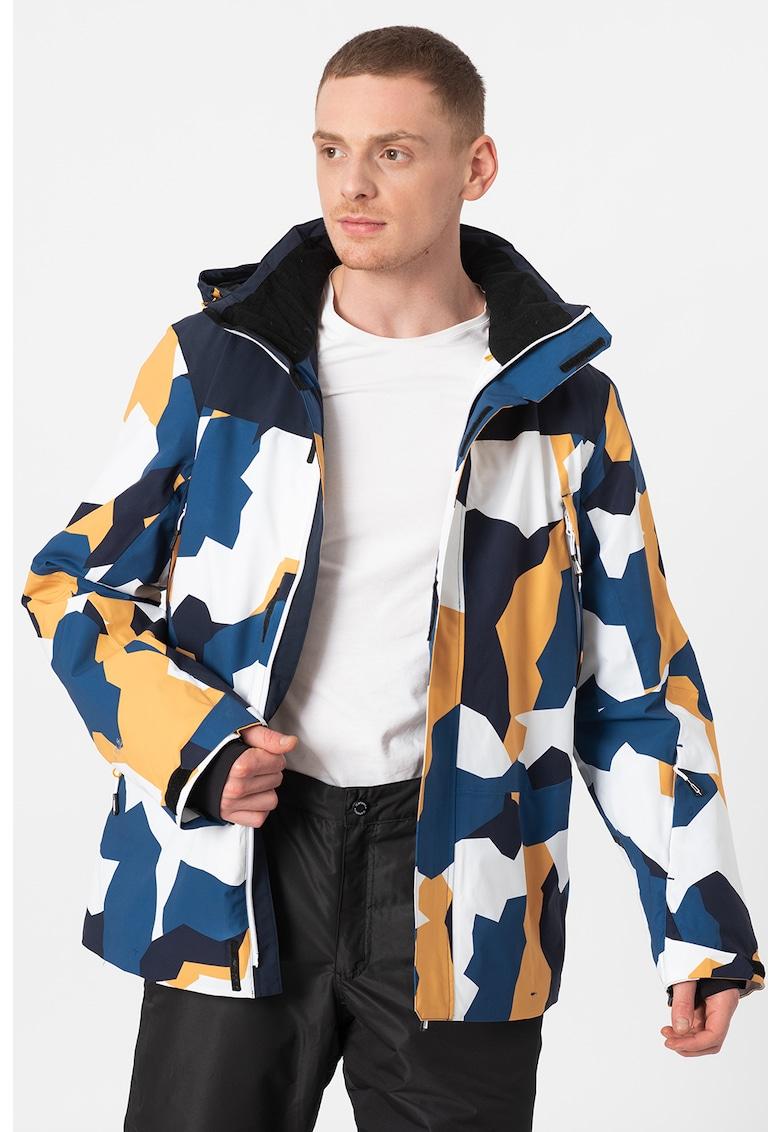 Jacheta cu imprimeu si gluga - pentru ski Cabery imagine