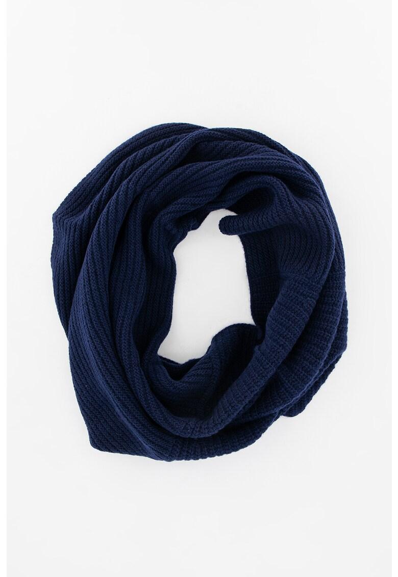 Fular circular din amestec de lana - cu striatii imagine