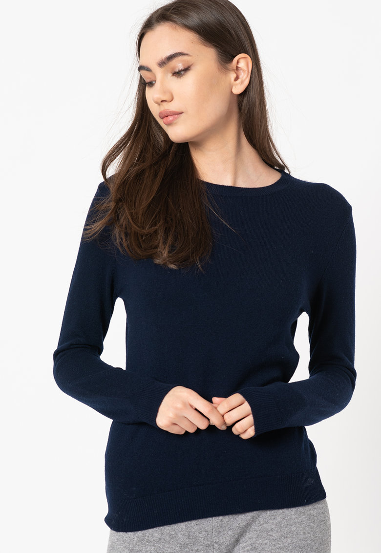 Pulover tricotat fin - de lana virgina