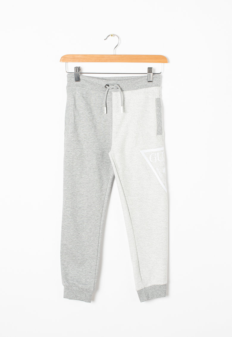 Pantaloni sport cu snur si logo lateral imagine