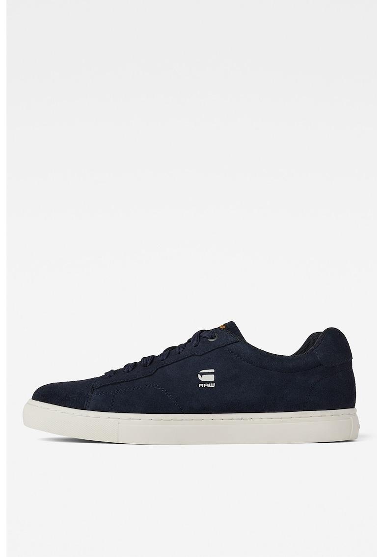 Pantofi sport de piele intoarsa cu logo discret