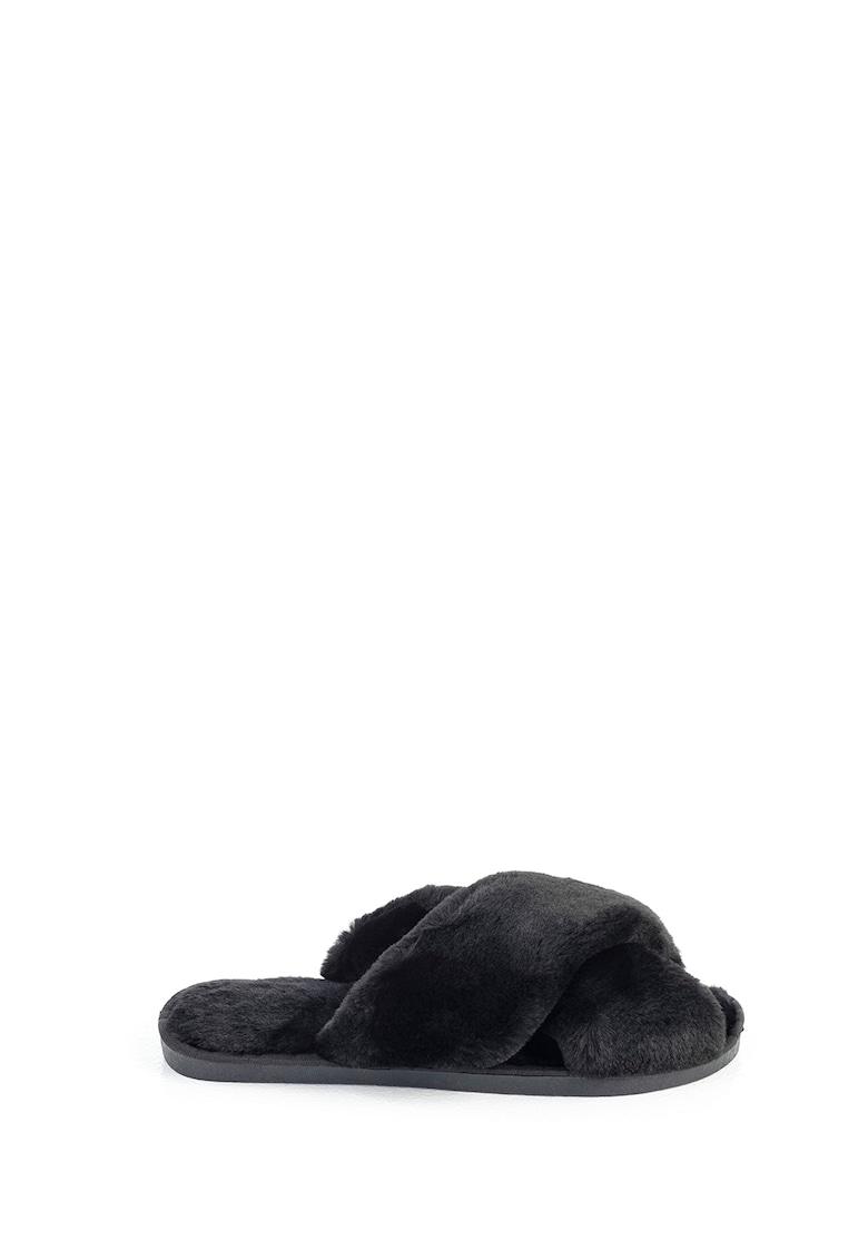 Papuci de casa cu barete incrucisate