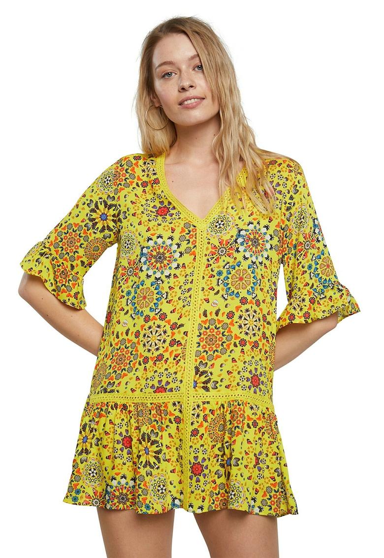 Rochie de plaja cu mandala florala
