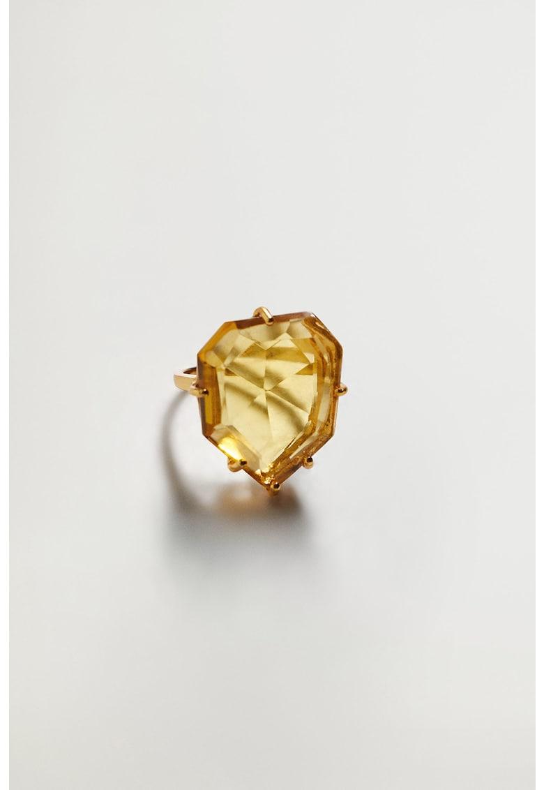 Inel placat cu aur de 24K cu cristal Duran imagine promotie