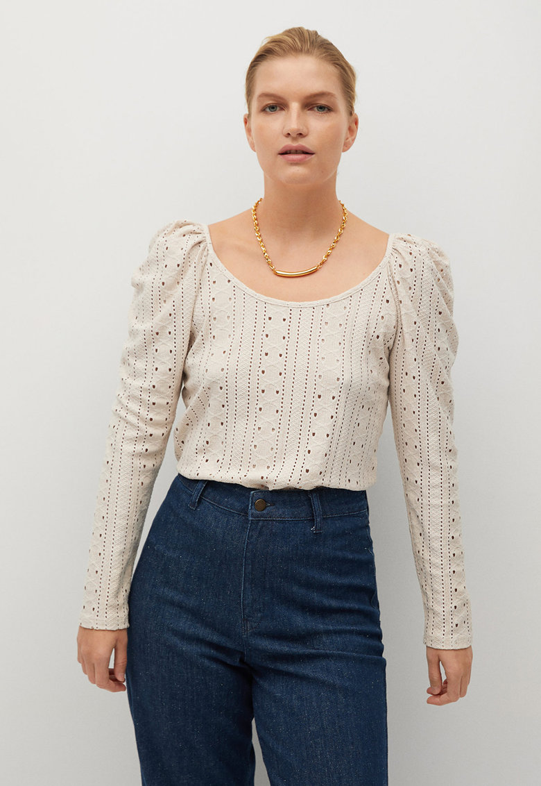 Bluza cu broderie Sangallo Vintage