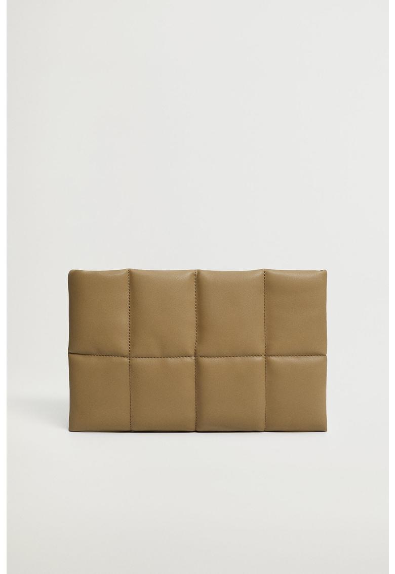 Geanta plic de piele ecologica cu aspect matlasat Pillow imagine fashiondays.ro