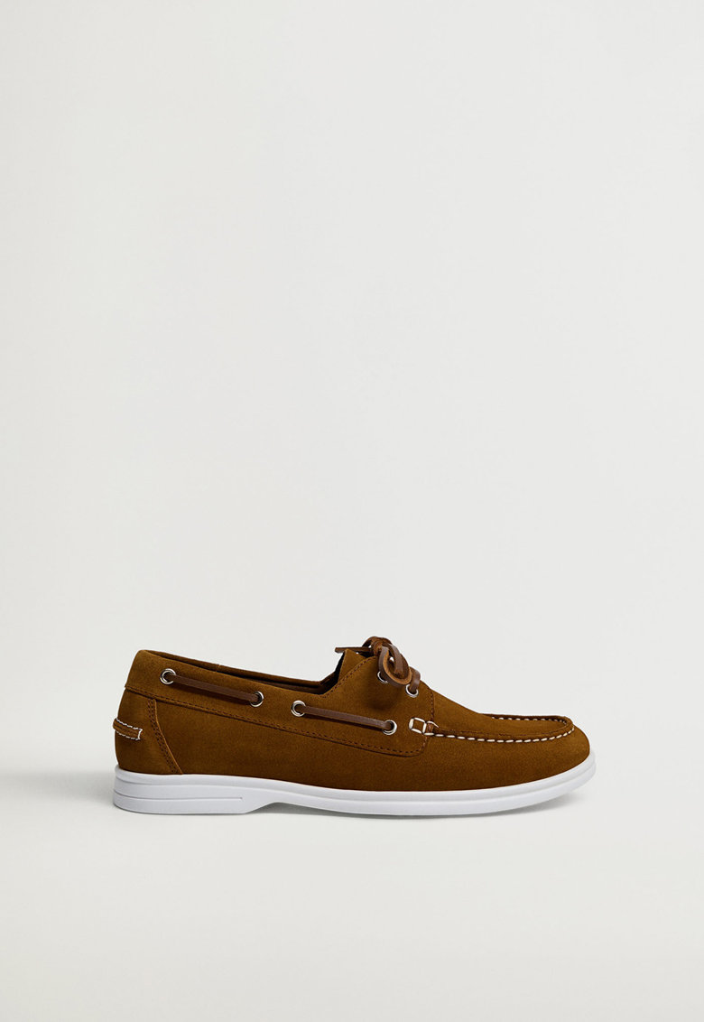 Pantofi boat de piele intoarsa