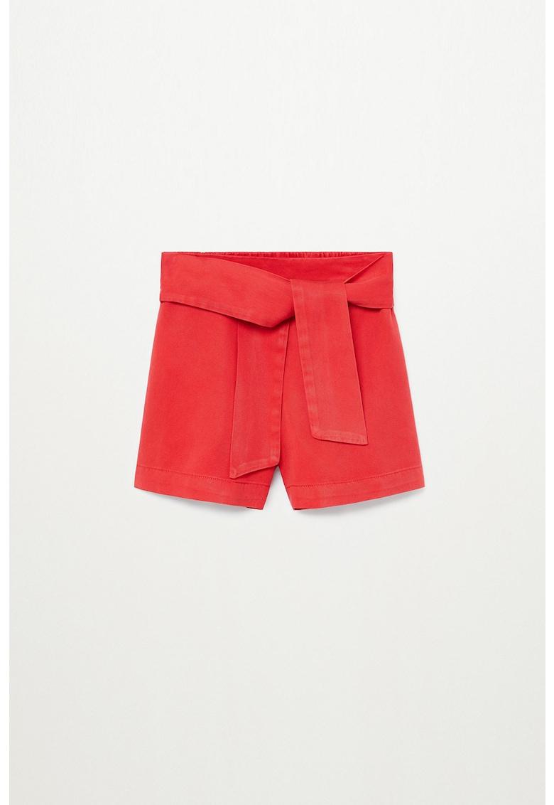 Pantaloni scurti cu talie inalta din lyocell Line imagine