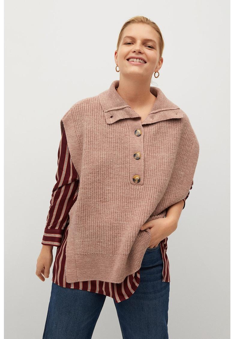 Vesta tricotata cu guler inalt Baberi