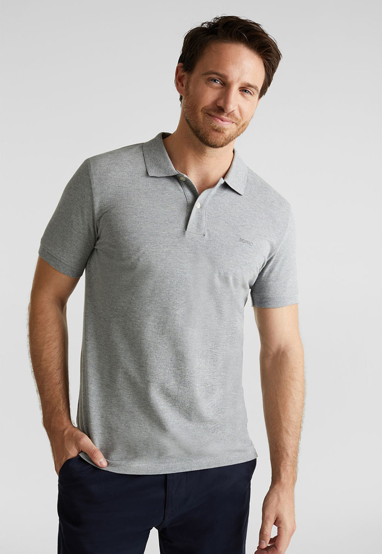 Tricou polo slim fit din material pique Bărbați imagine