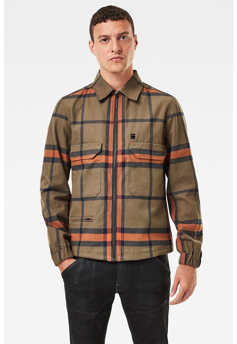 Jacheta cu fermoar si model in carouri