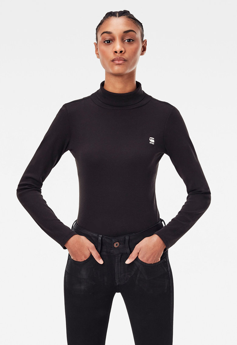 Bluza slim fit de bumbac organic imagine