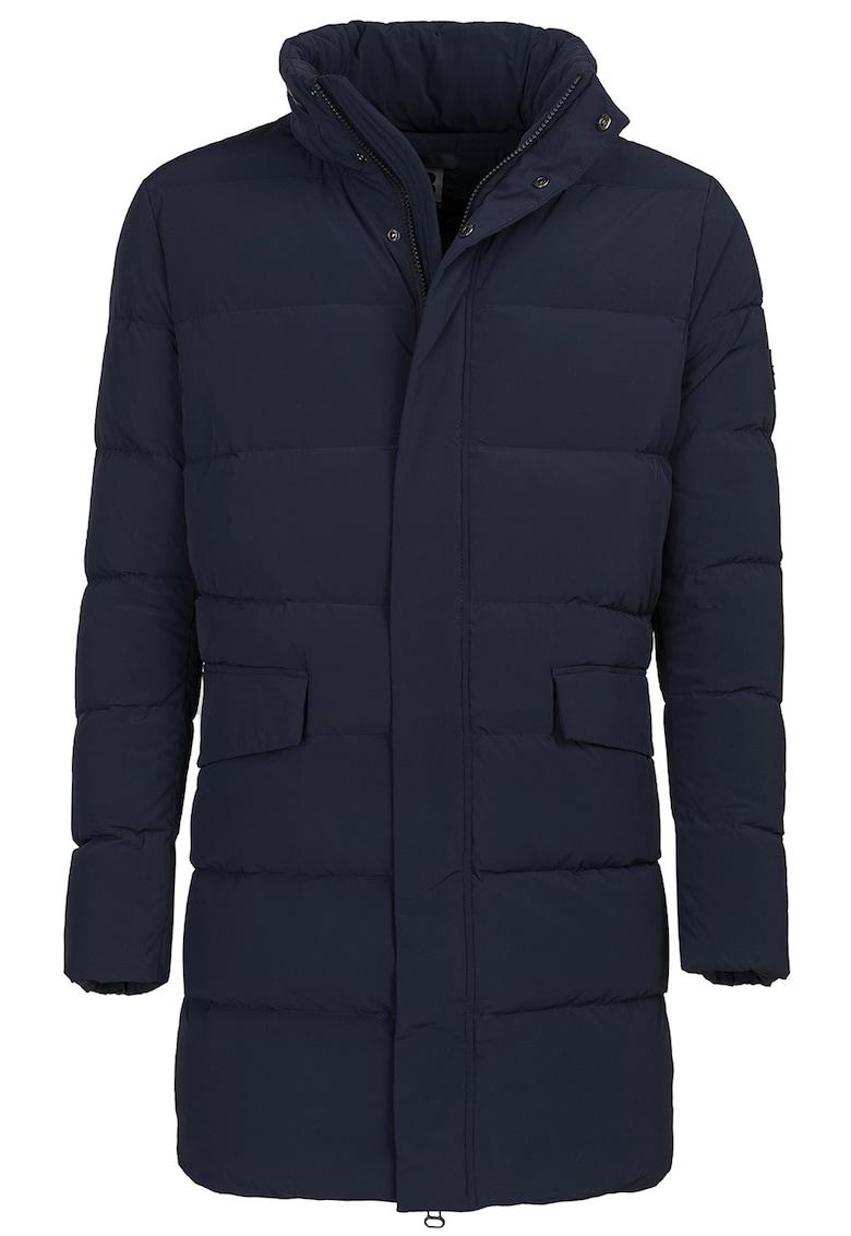 Jacheta lunga slim fit cu umplutura de puf