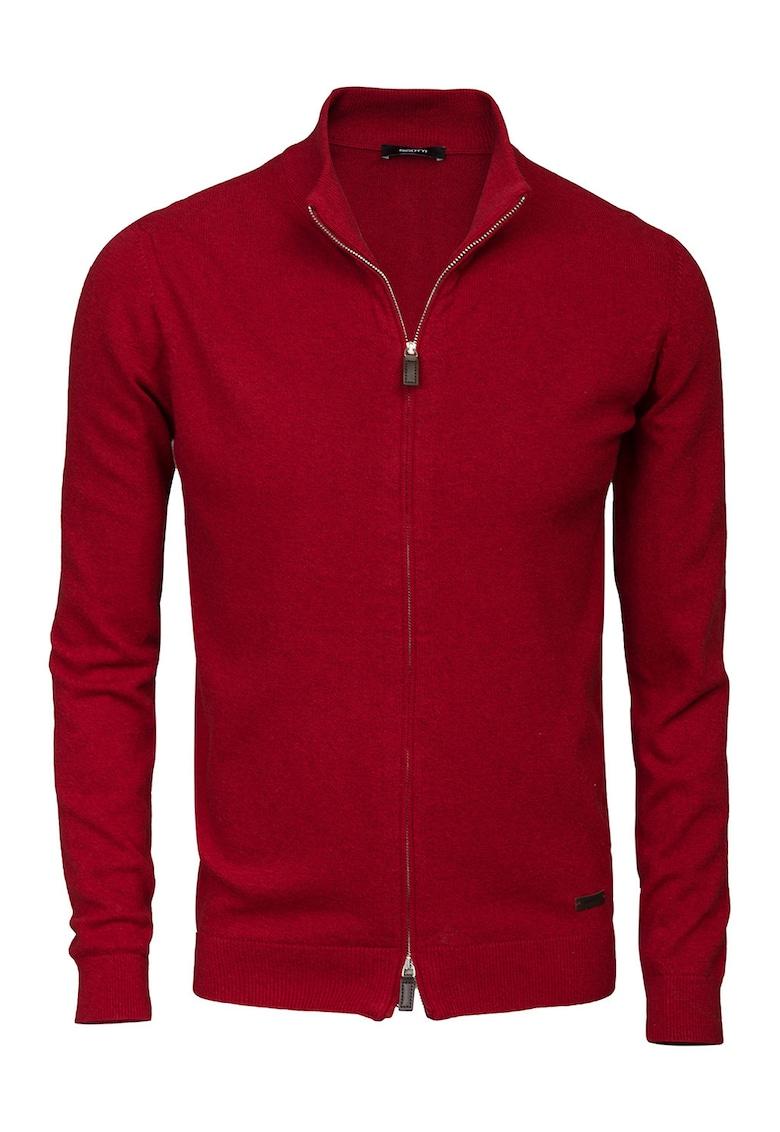 Cardigan slim fit din amestec de lana