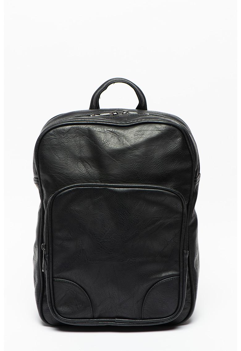 Pierro Poggi Rucsac din piele ecologica cu compartiment pentru laptop