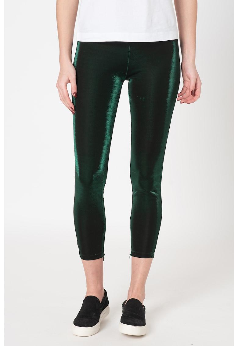 Pantaloni crop skinny stralucitori