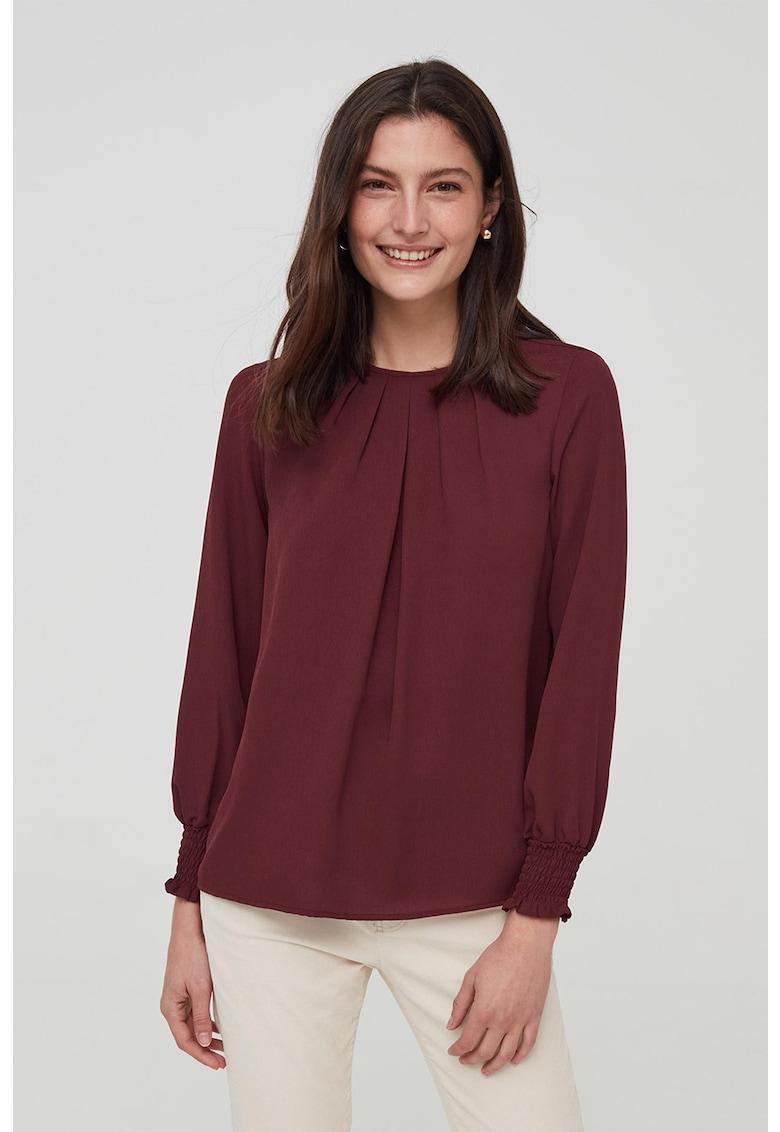 Bluza cu detaliu plisat