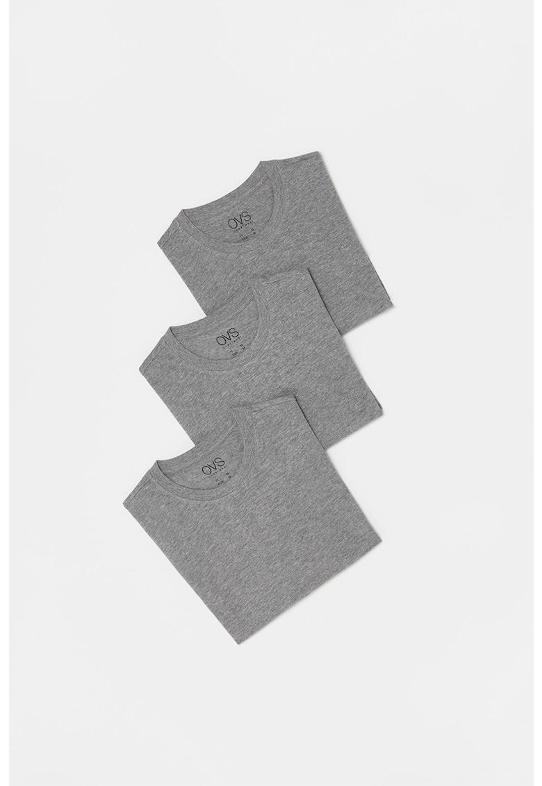 Set de tricouri cu decolteu la baza gatului - 3 piese