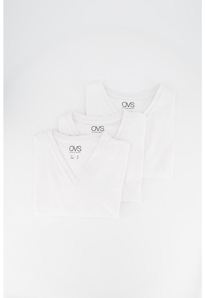 Set de tricouri de casa - cu decolteu in V - 3 piese Bărbați imagine