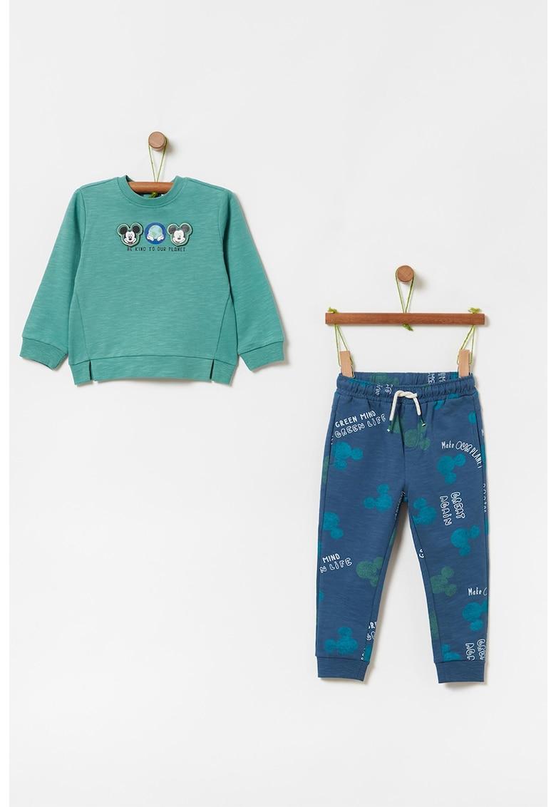 Set de bluza si pantaloni sport cu imprimeu cu desene animate - 2 piese