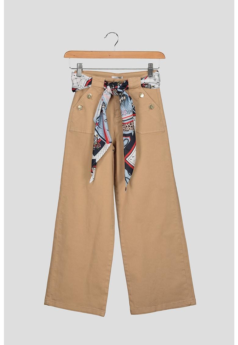 Liu Jo Pantaloni cu croiala ampla si esarfa detasabila in talie