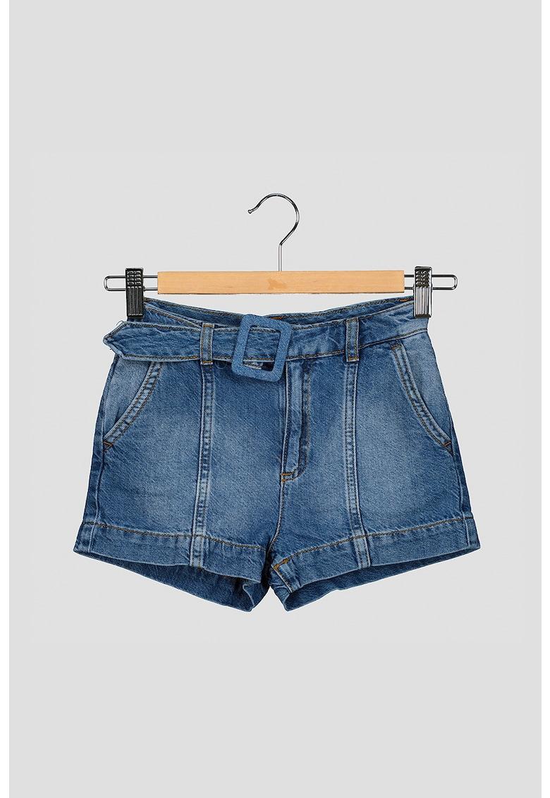 Pantaloni scurti din chambray cu o curea fashiondays.ro