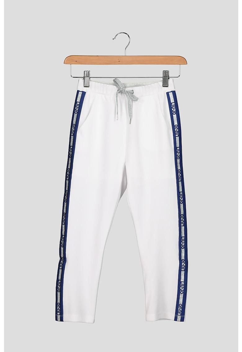 Liu Jo Pantaloni sport cu garnituri laterale cu logo