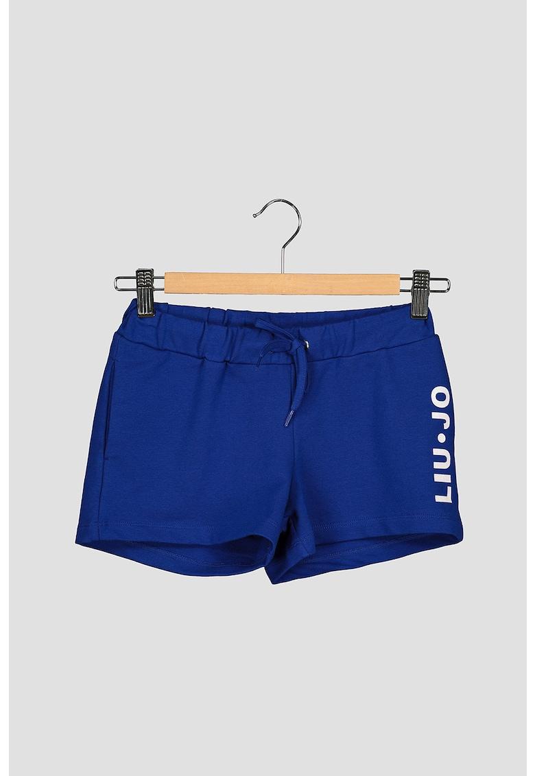Pantaloni sport scurti cu imprimeu logo