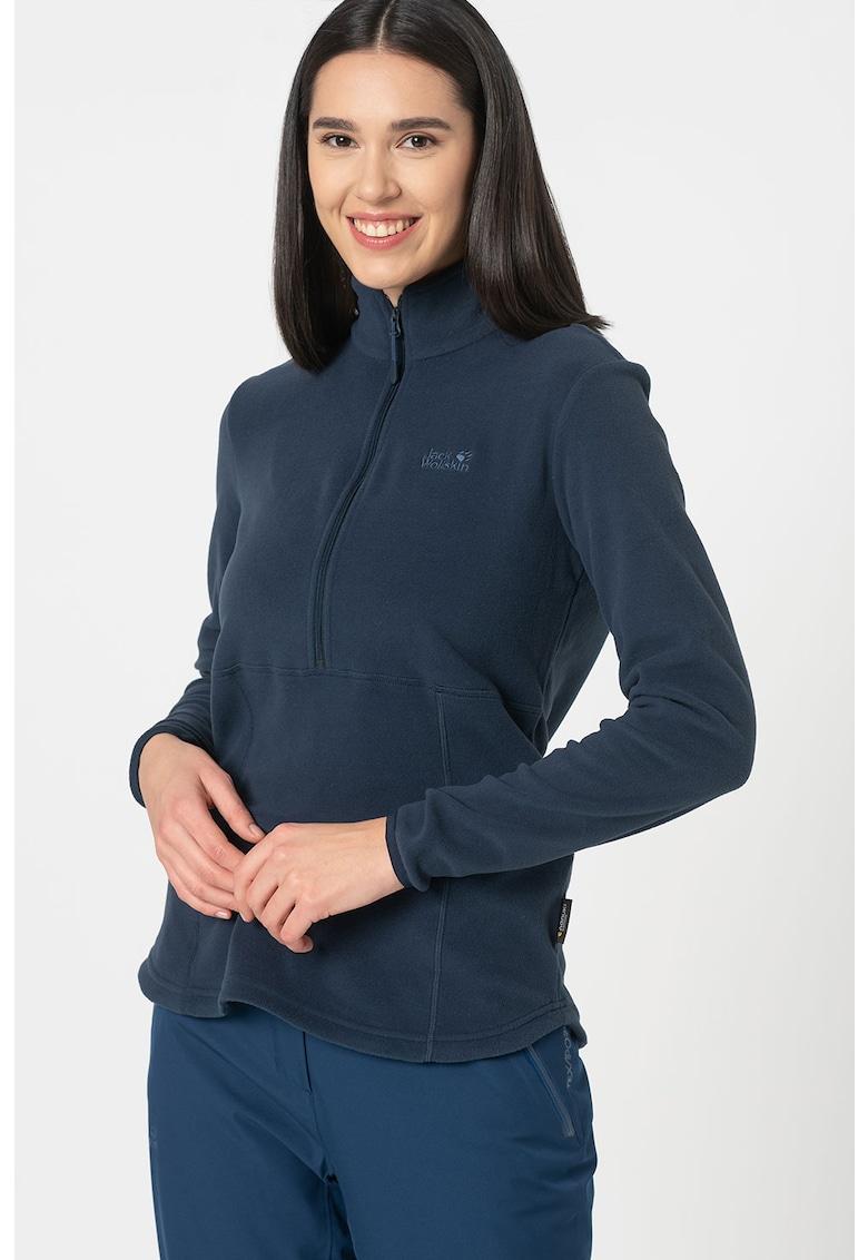 Bluza din fleece cu fenta cu fermoar pentru drumetii Echo imagine