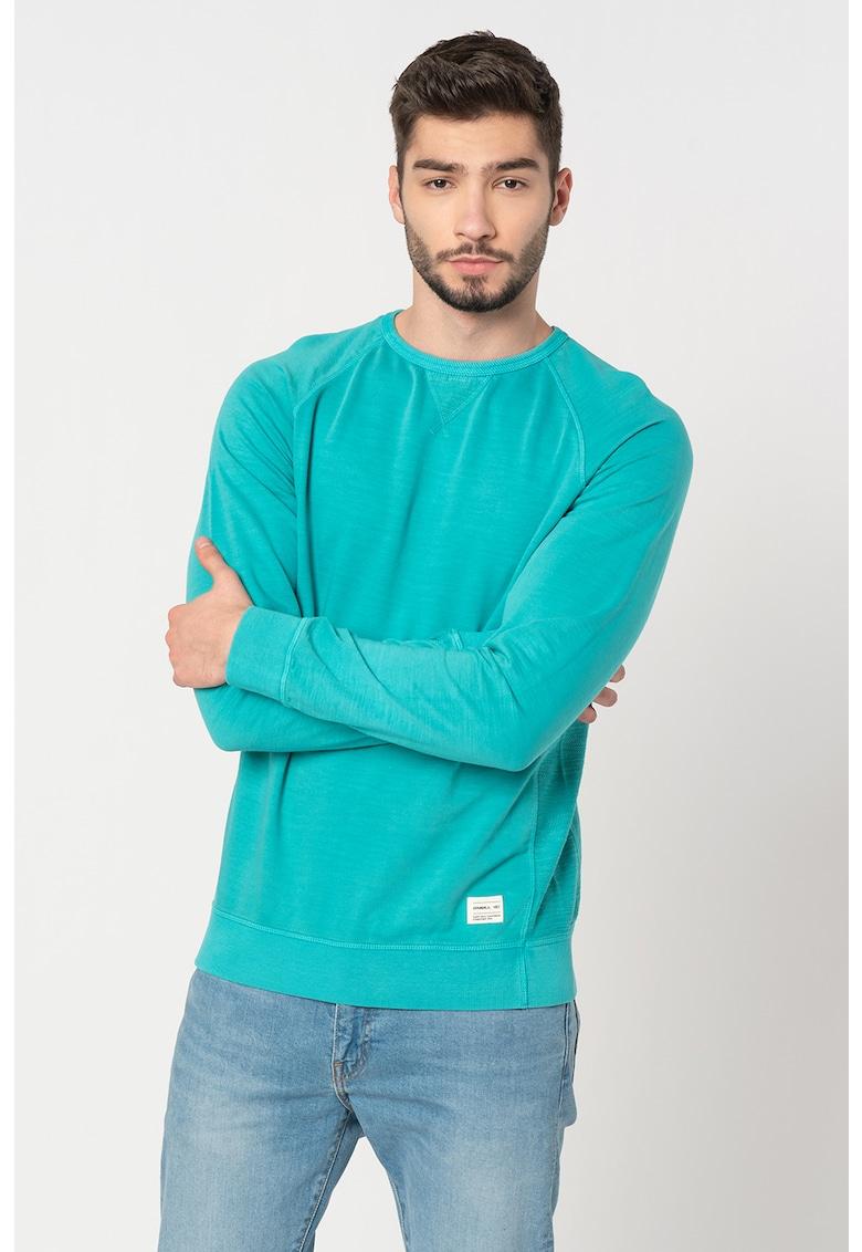 Bluza sport slim fit cu maneci raglan Slow Fast imagine