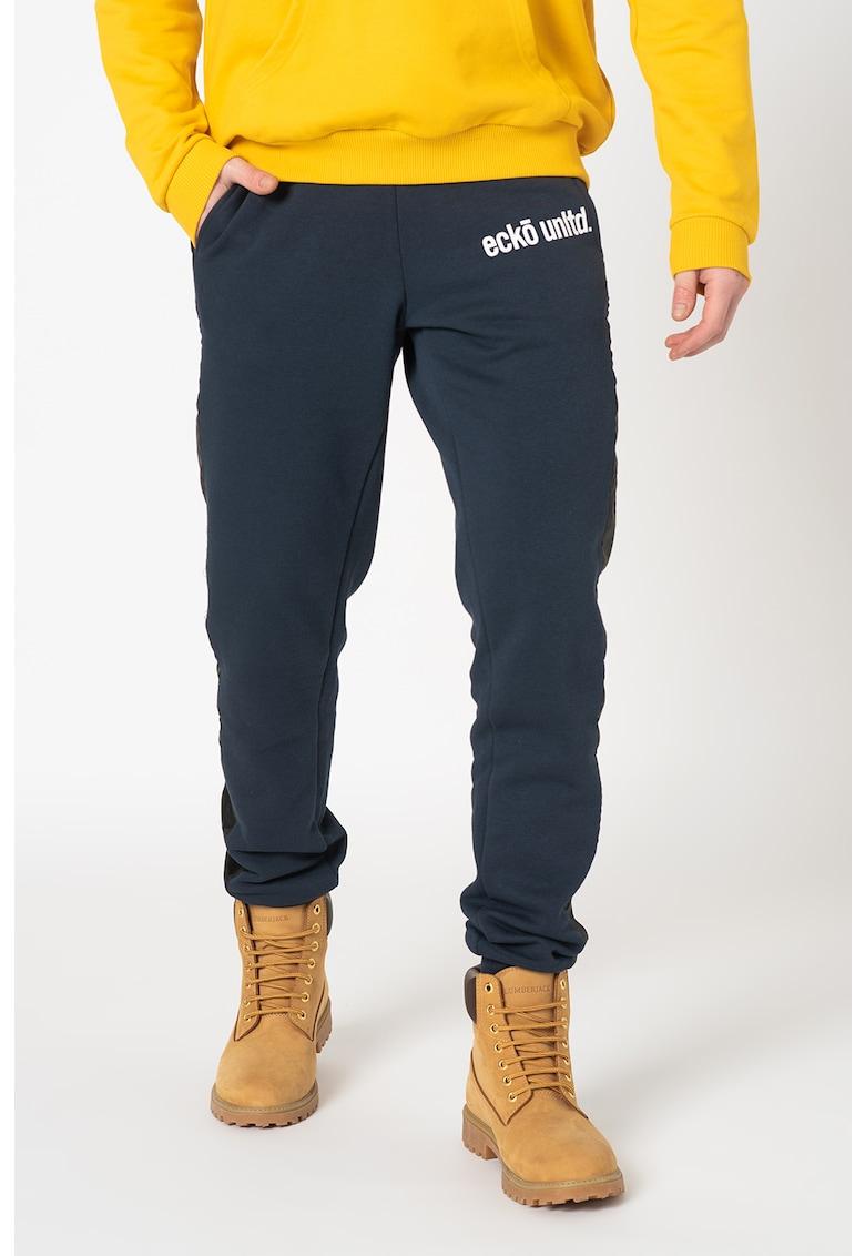 Pantaloni sport cu insertii contrastante Pendan