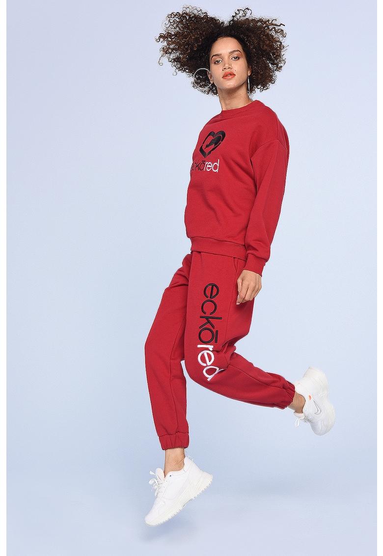 Pantaloni sport cu logo Julia