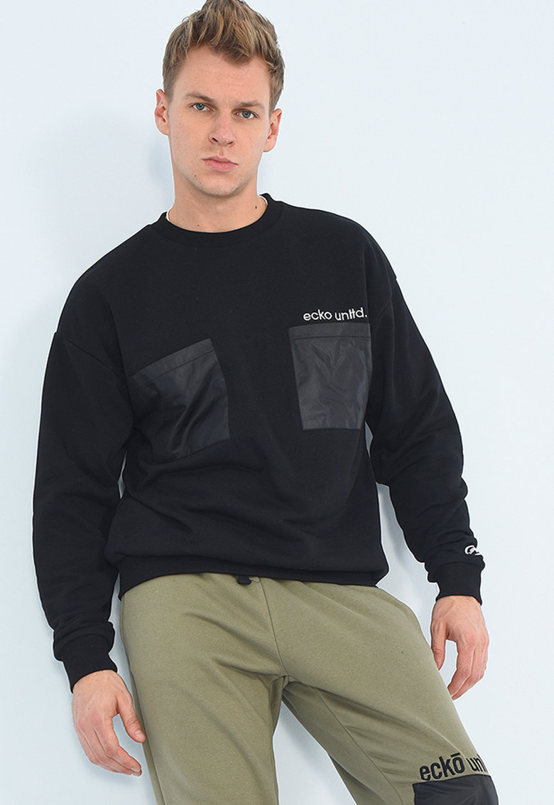 Bluza sport cu buzunare pe piept si croiala lejera Skrtel imagine