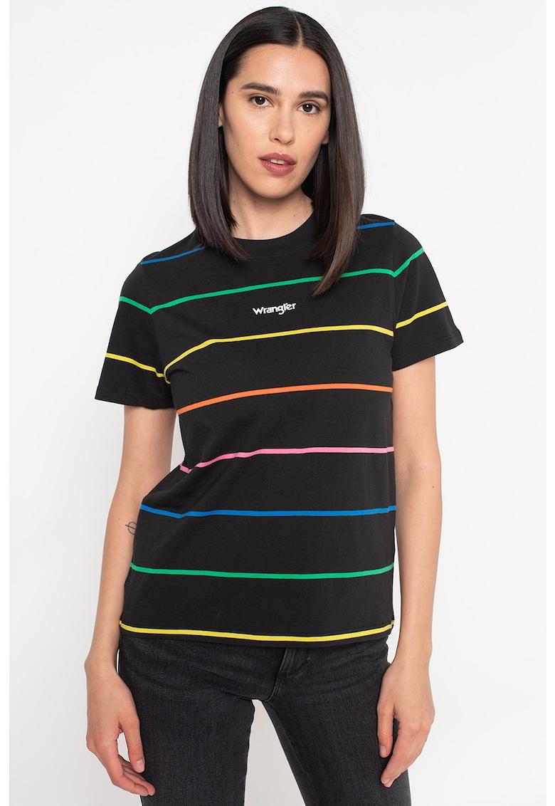 Tricou regular fit cu dungi imagine fashiondays.ro 2021
