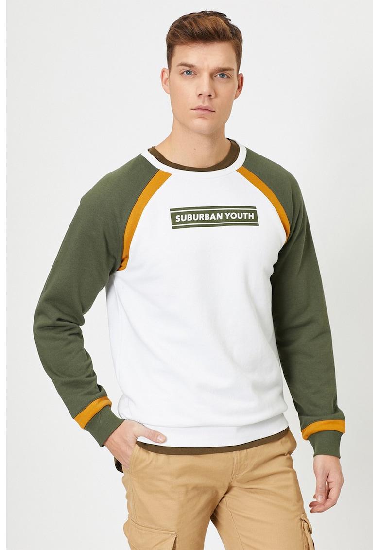Bluza sport cu decolteu la baza gatului si model colorblock imagine fashiondays.ro 2021