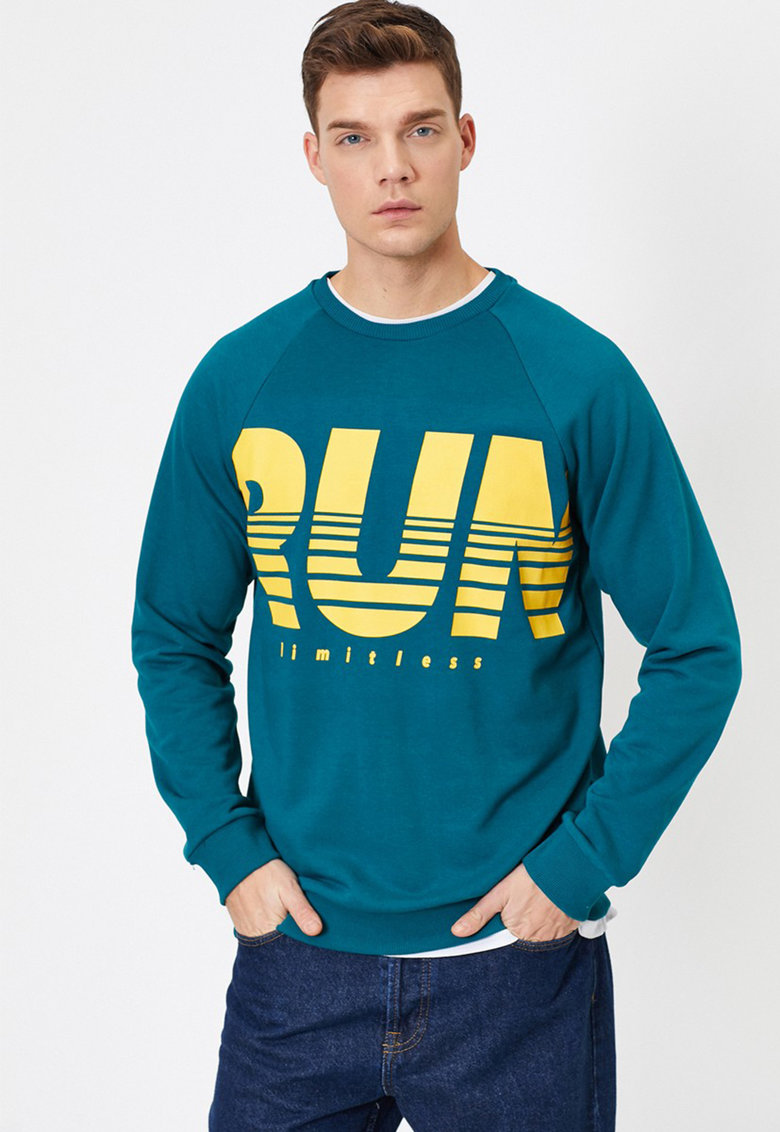 Bluza sport cu imprimeu text imagine