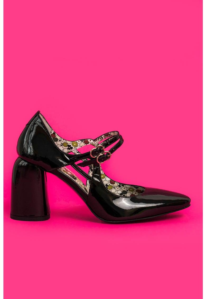CONDUR by alexandru Pantofi Mary-Jane de piele lacuita cu decupaje Fantasy