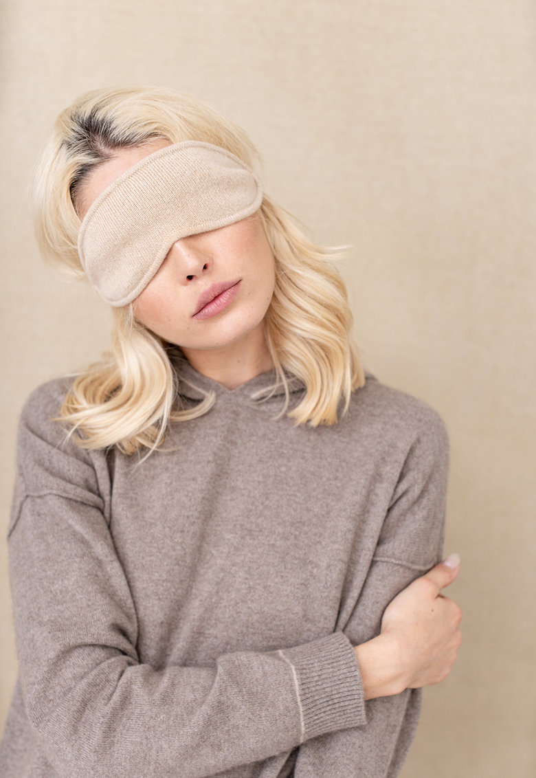 Masca unisex din casmir sustenabil pentru somn