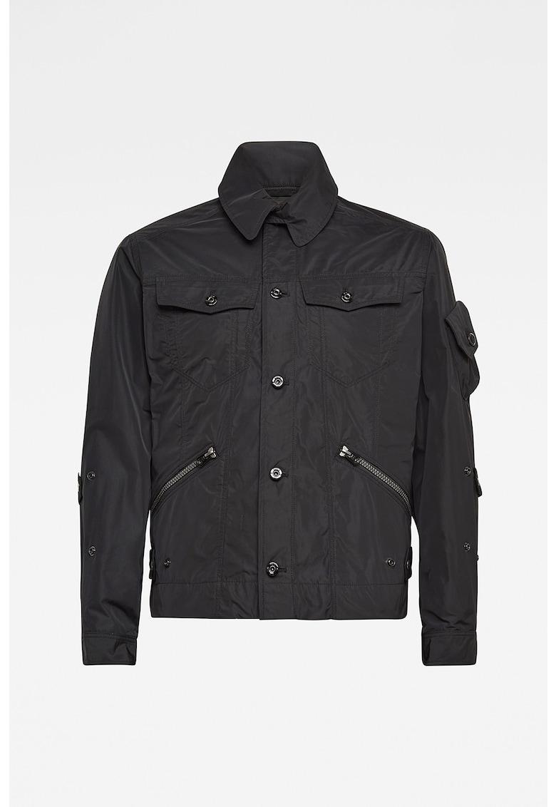 Jacheta tip camasa cu buzunare cu clapa