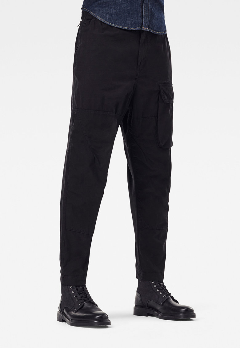 Pantaloni relaxed fit cu buzunar frontal