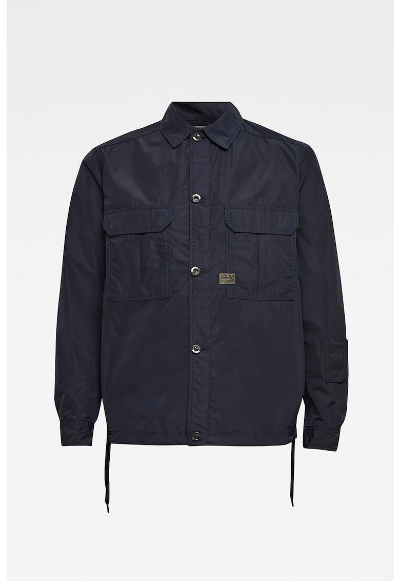 Jacheta tip camasa cu buzunare pe piept imagine