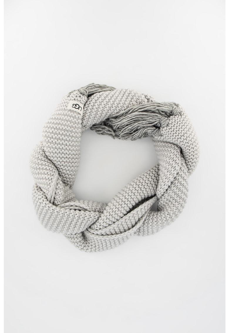 Fular din amestec de lana cu franjuri 18755 imagine
