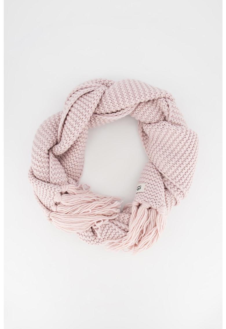 Fular din amestec de lana cu franjuri imagine promotie