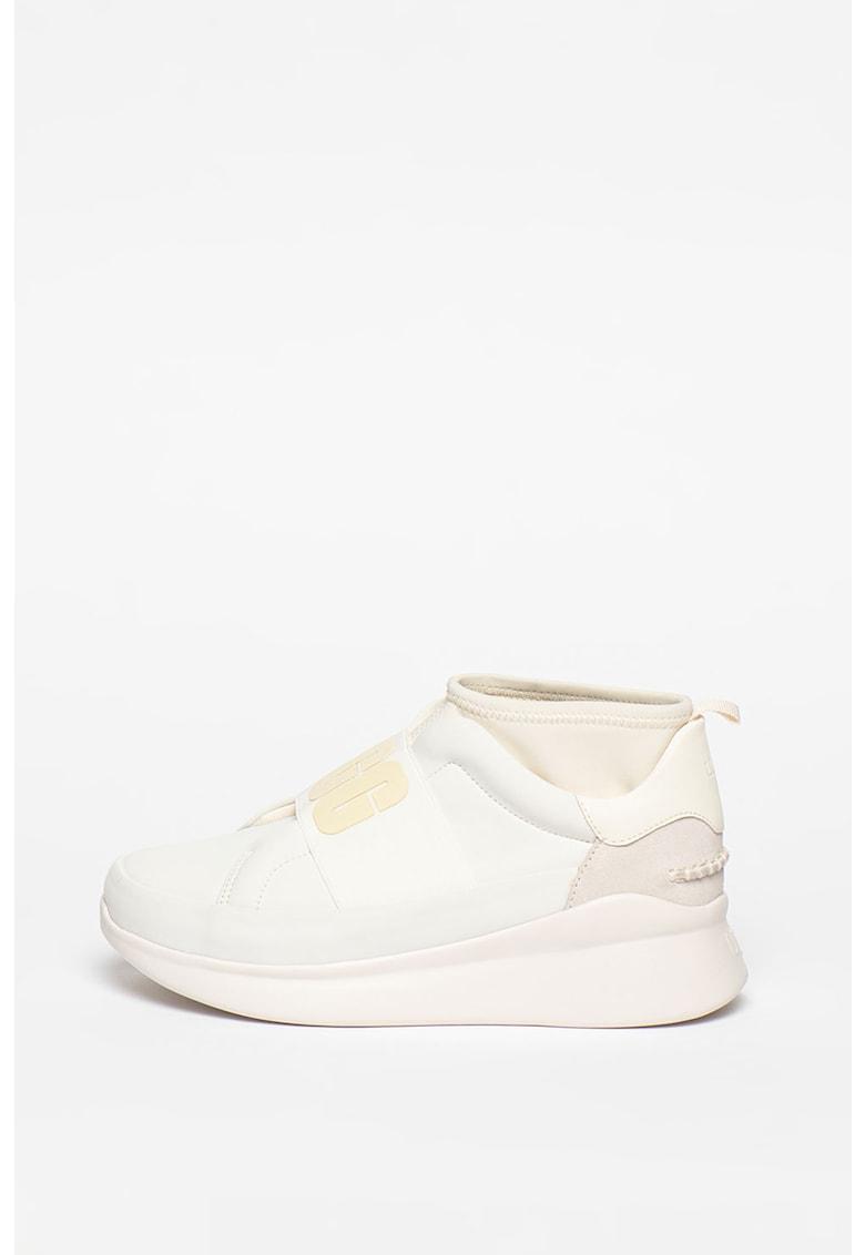 Pantofi sport slip-on cu garnituri din piele Neutra imagine promotie