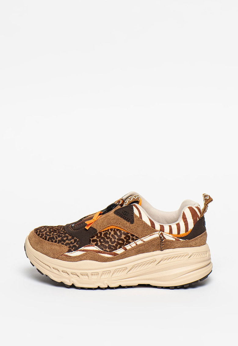 Pantofi sport din piele si material textil cu aspect masiv Wild Thang imagine promotie
