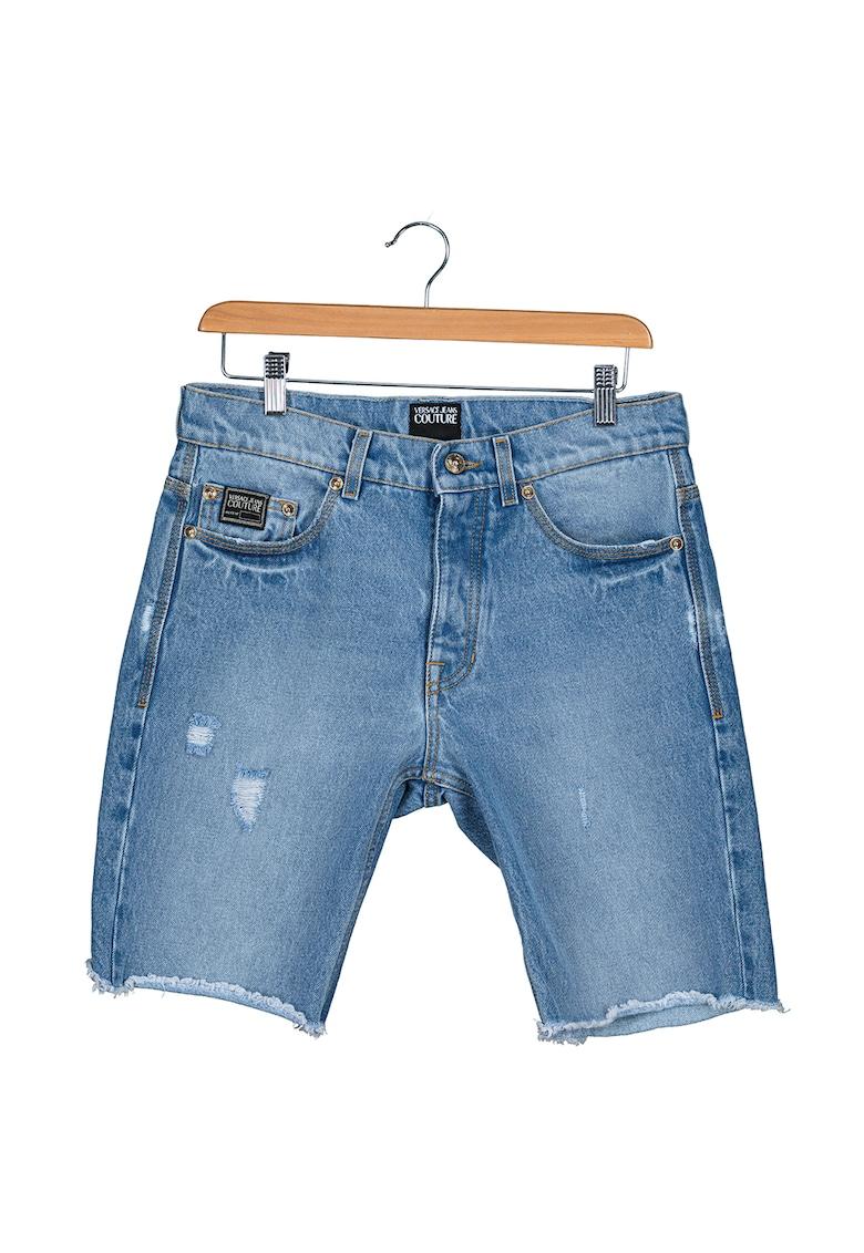 Versace Jeans Couture Pantaloni scurti din denim cu detalii deteriorate