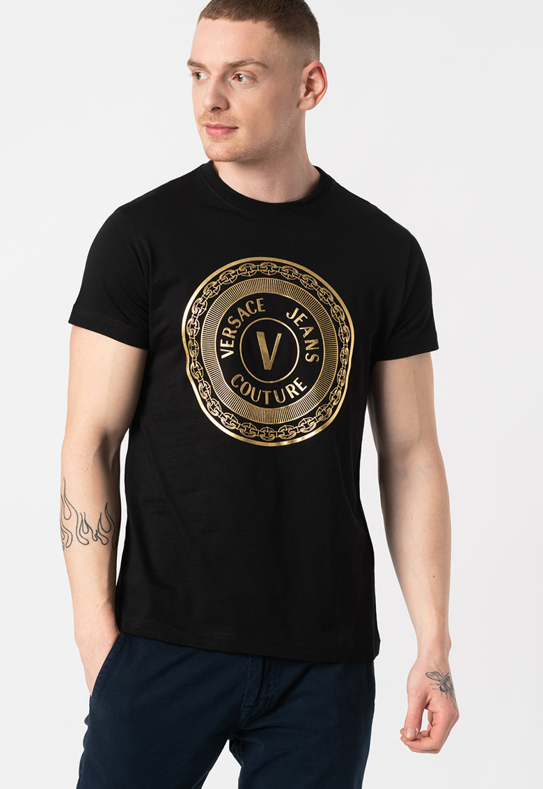 Tricou slim fit cu imprimeu logo lucios T.Mouse 68 Bărbați imagine